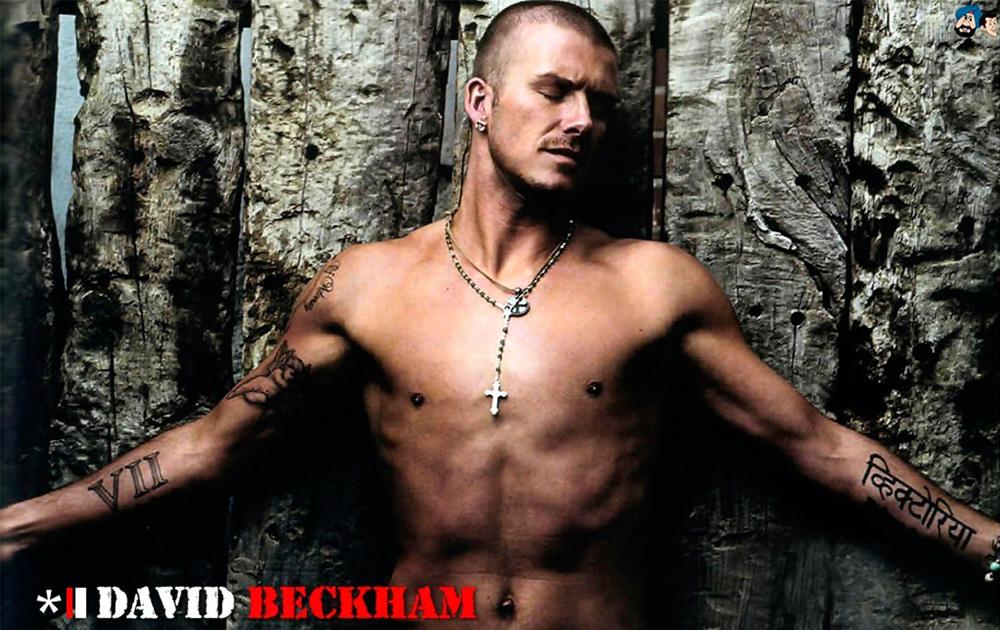 """Мужские бусы: Дэвид Бекхэм – подвеска """"Крест"""""""