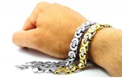 Мужские браслеты из хирургической стали