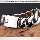 Мужской браслет зеркальный стальной шириной 26 мм