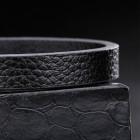 Минималистичный браслет из полосы кожи с необычным замком