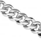Стильный браслет 19 см с сегментами - кольцами (цепочка на руку) и коробчатым замком