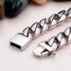 Стильный классический гладкий браслет на руку в виде цепи для мужчин