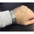 Классический браслет 20 см. Элегантное сочетание полированных и матовых поверхностей.
