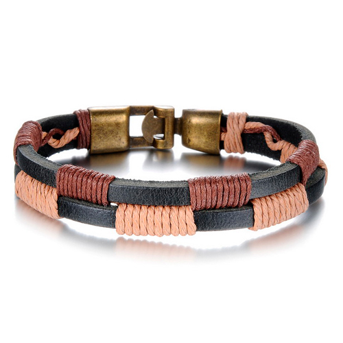 Коричнево-бежевый браслет для повседневного ношения