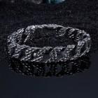 Поверхностный рельеф браслета-цепочки похож на плетеную корзину