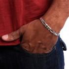 Браслет на руку с комбинированным классическим плетением