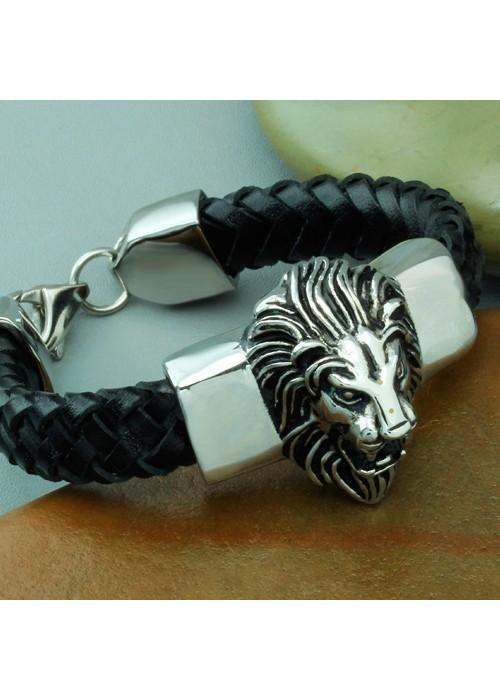 Женский браслет со львом