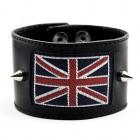 Браслет Великобритания широкий кожаный