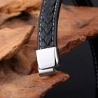 Стильный мужской браслет бизнес-стиля длиной 17,5 см