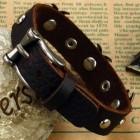 """Браслет кожаный """"Spike"""" шириной 15 мм с заклепками на ремешке"""