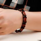 Мужской браслет из коричневых и черных обхватывающих жгутов