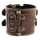 Мужской кожаный браслет на руку для тяжелоатлетов (штангистов, гиревиков и т. д.)