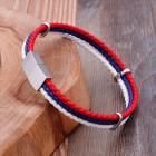 Стильный кожаный браслет в виде российского триколора