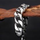 Браслет стальной в виде плоской цепочки