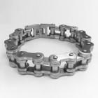 Матированный браслет из стали в виде велосипедной цепи
