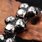 Браслет из множества черепков из стали длиной 20 см