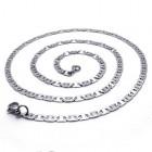 Тонкая цепочка с стильными пластинами-звеньями из ювелирной стали длиной до 65 см
