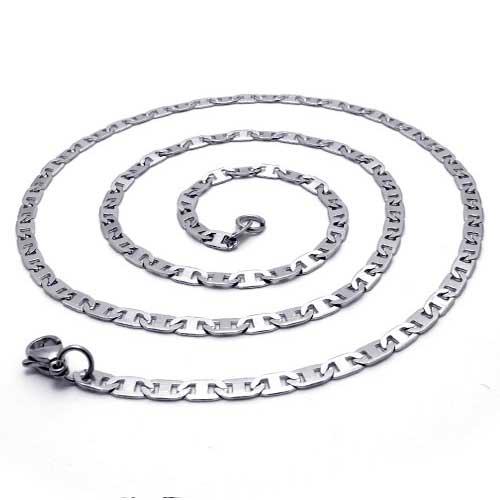 Цепочка с стильными пластинами-звеньями из ювелирной стали длиной 60 см
