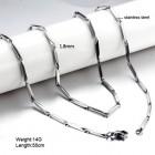 Стальная цепочка в виде продолговатых сегментов длиной 14 мм
