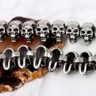 Цепочка на шею из крупных последовательно соединенных черепов