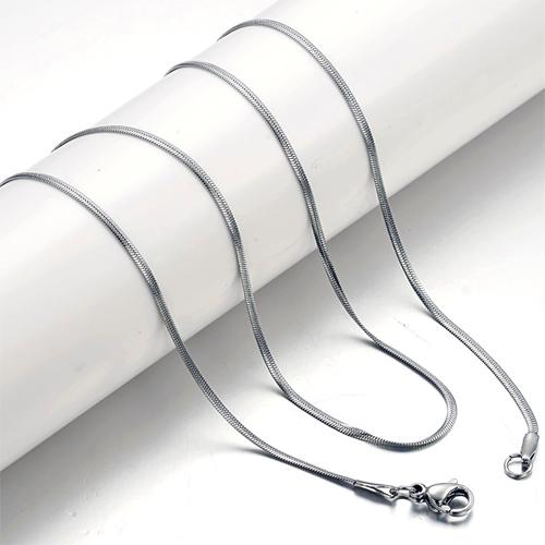 Цепочка шириной 2 мм из стали и длиной 46 см
