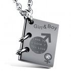 Кулон книжка girl boy для влюбленных