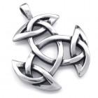 Кулон в виде символа кельтской триады - троичности времени