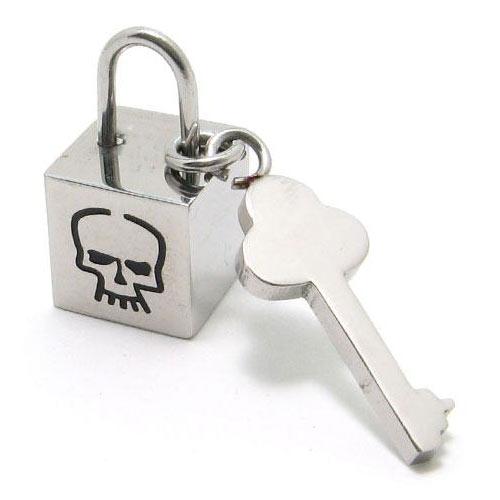 """Кулон в виде навесного замки и ключика """"Danger Lock"""""""
