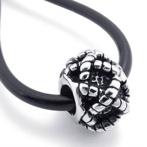 Кулон клубок на черном шнурке