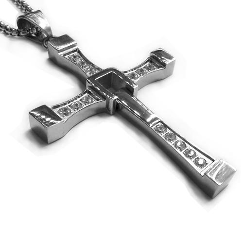 Кулон на шею Доминика Торетто крест с цепочкой 45 см