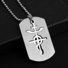 Кулон стальной в виде символа медицины и аптекарского дела