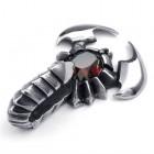"Кулон на шею ""Скорпион"" из стали 316L и цирконом посередине"