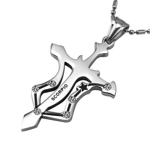 Знак зодиака Скорпион - подвеска на шею из стали