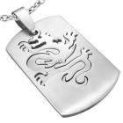 Медальон с выходящим из ниши драконом