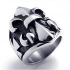 Стальное кольцо 27 мм геральдическая лилия