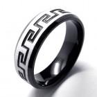 Мужское кольцо из стали в греческом стиле