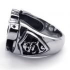 Стильное кольцо мужское в виде кастета