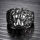 """Мужское удобное кольцо """"Лев"""" из стали"""