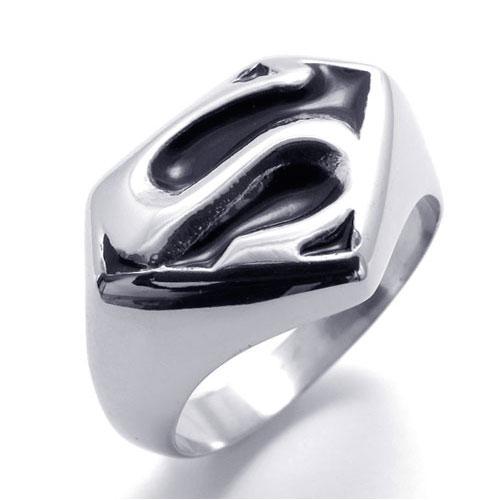 Стильное кольцо мужское на палец Супермен