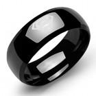 Стальное кольцо с PVD-покрытием черного цвета Супермен