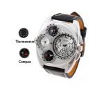 Наручные часы с японским кварцевым механизмом, компасом и термометром