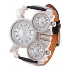 Оригинальная модель с тремя циферблатами - стильные наручные часы
