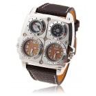 Дешевые кварцевые наручные часы с двумя циферблатами