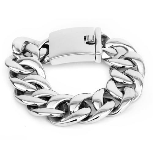 Браслет шириной 26 мм со стальными округлыми кольцами