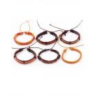 Комплект из шести коричнево-рыжих браслетов