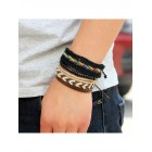 """Набор браслетов """"Rainbow Black"""" - доброта радуги и благородность черного цвета"""