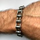 Классический байкерский браслет на руку для мужчин
