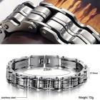 Мужской браслет на руку из стали с надежным замком