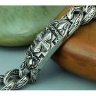 Браслет из ювелирной стали в виде цепочки и плашки с крестом