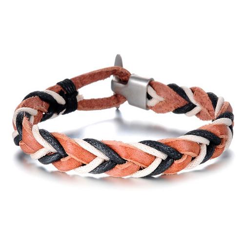 Стильный браслет в виде косички на руку для мужчин